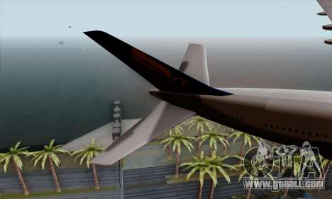Airbus A380-800 Singapore Airline for GTA San Andreas back left view