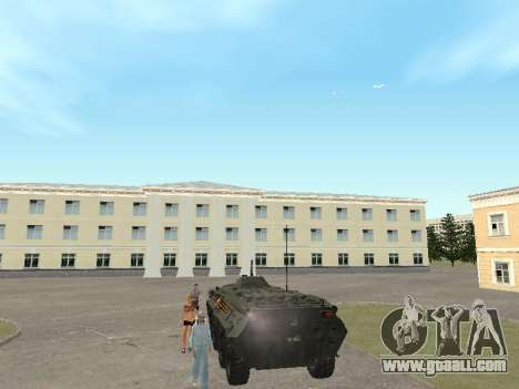 BTR 80 Front for GTA San Andreas right view