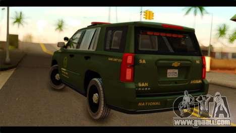 Chevrolet Suburban 2015 SANG for GTA San Andreas left view