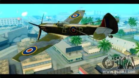 Supermarine Spitfire F MK XVI 318 SQ for GTA San Andreas left view