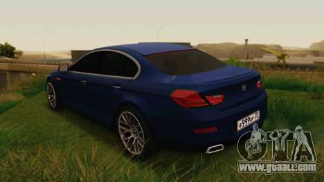 BMW 6 Series Gran Coupe 2014 for GTA San Andreas left view