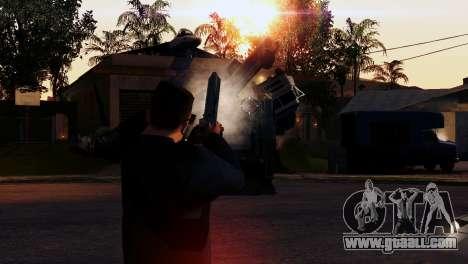 Transport V2 instead of bullets for GTA San Andreas
