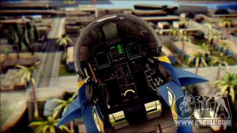 FA-18D Hornet NASA for GTA San Andreas back view