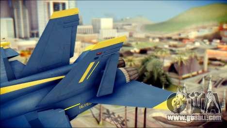 FA-18D Hornet NASA for GTA San Andreas back left view