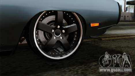 Dodge Charger RT 1970 for GTA San Andreas back left view