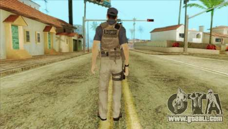 COD Advanced Warfare Jon Bernthal Security Guard for GTA San Andreas second screenshot