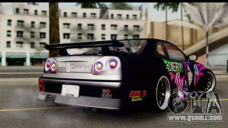 Nissan Skyline GT-R Rize Itasha for GTA San Andreas left view