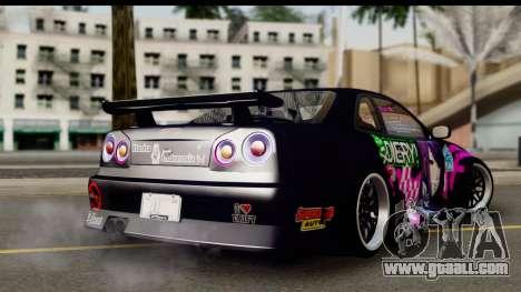 Nissan Skyline GT-R Rize Itasha for GTA San Andreas left view