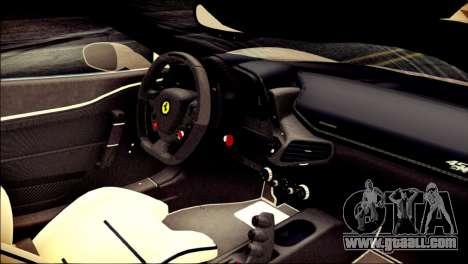 Ferrari 458 Speciale 2015 Stripe for GTA San Andreas right view