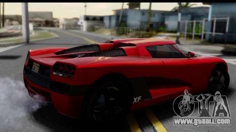 GTA 5 Overflod Entity XF for GTA San Andreas left view