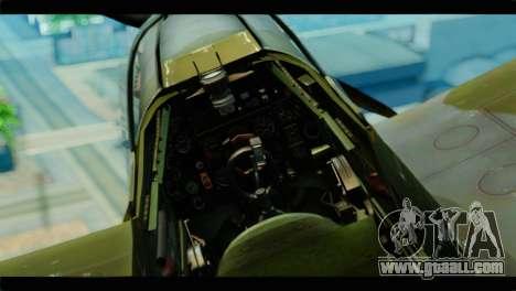 Supermarine Spitfire F MK XVI 318 SQ for GTA San Andreas right view