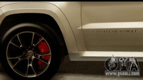 Jeep Grand Cherokee SRT8 2014 for GTA San Andreas back view