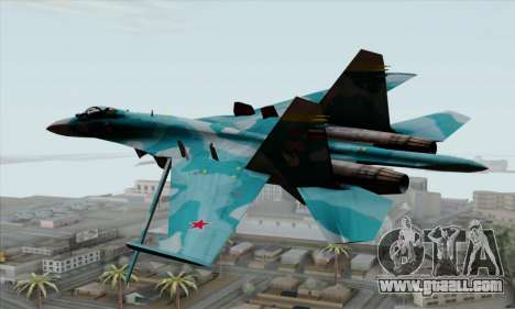 SU-27 Flanker A Warwolf Squadron for GTA San Andreas left view