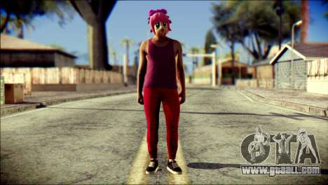 Skin Kawaiis GTA V Online v1 for GTA San Andreas