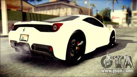 Ferrari 458 Speciale 2015 Stripe for GTA San Andreas left view