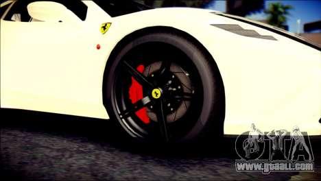 Ferrari 458 Speciale 2015 for GTA San Andreas back left view