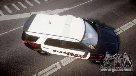 Ford Explorer 2011 Elizabeth Police [ELS] for GTA 4 right view