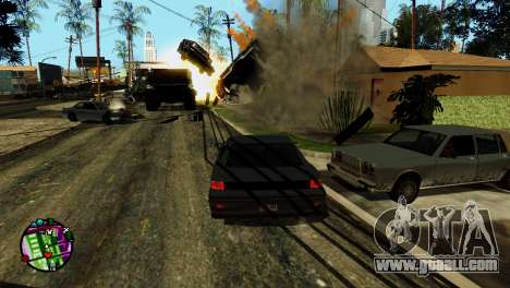 Transport V2 instead of bullets for GTA San Andreas eighth screenshot