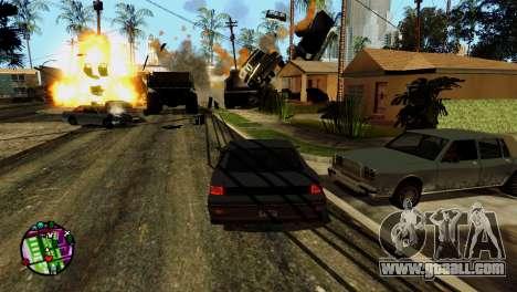 Transport V2 instead of bullets for GTA San Andreas ninth screenshot