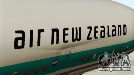 DC-10-30 Air New Zealand for GTA San Andreas back view