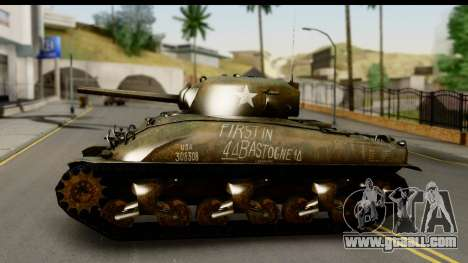 M4A1 Sherman First in Bastogne for GTA San Andreas back left view