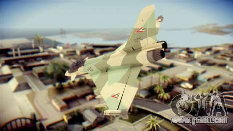 EuroFighter Typhoon 2000 Hungarian Air Force for GTA San Andreas left view