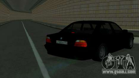 BMW 750i e38 for GTA San Andreas back left view