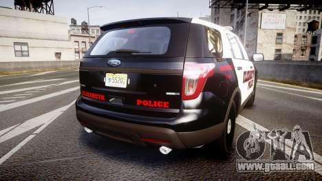 Ford Explorer 2011 Elizabeth Police [ELS] for GTA 4 back left view