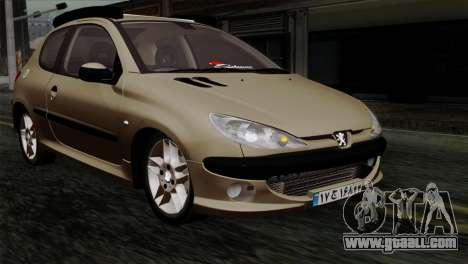 Peugeot 206 for GTA San Andreas