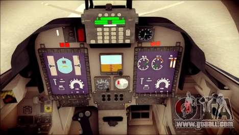 Embraer EMB-314 Super Tucano E for GTA San Andreas back view