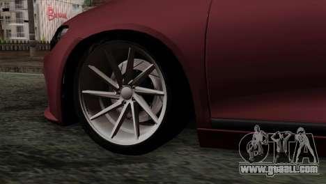 Volkswagen Scirocco R for GTA San Andreas back left view