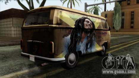 Volkswagen T2 Bob Marley for GTA San Andreas left view