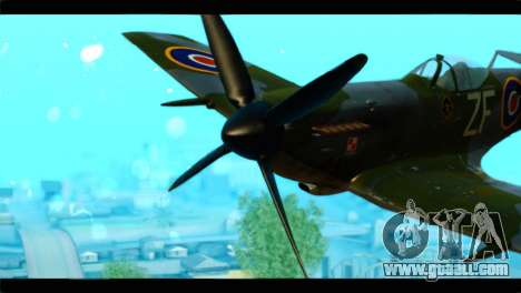 Supermarine Spitfire F MK XVI 318 SQ for GTA San Andreas back view