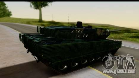 Leopard 2A6 Woodland for GTA San Andreas left view