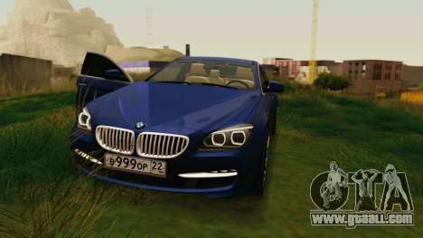BMW 6 Series Gran Coupe 2014 for GTA San Andreas back view