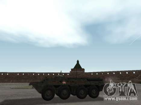 BTR 80 Front for GTA San Andreas back left view