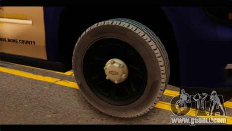 Chevrolet Suburban 2015 BCSD Sheriff for GTA San Andreas back left view