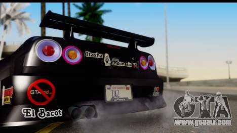 Nissan Skyline GT-R Rize Itasha for GTA San Andreas right view
