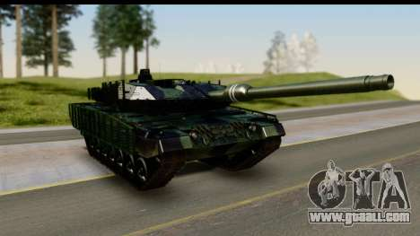 Leopard 2A6 Woodland for GTA San Andreas