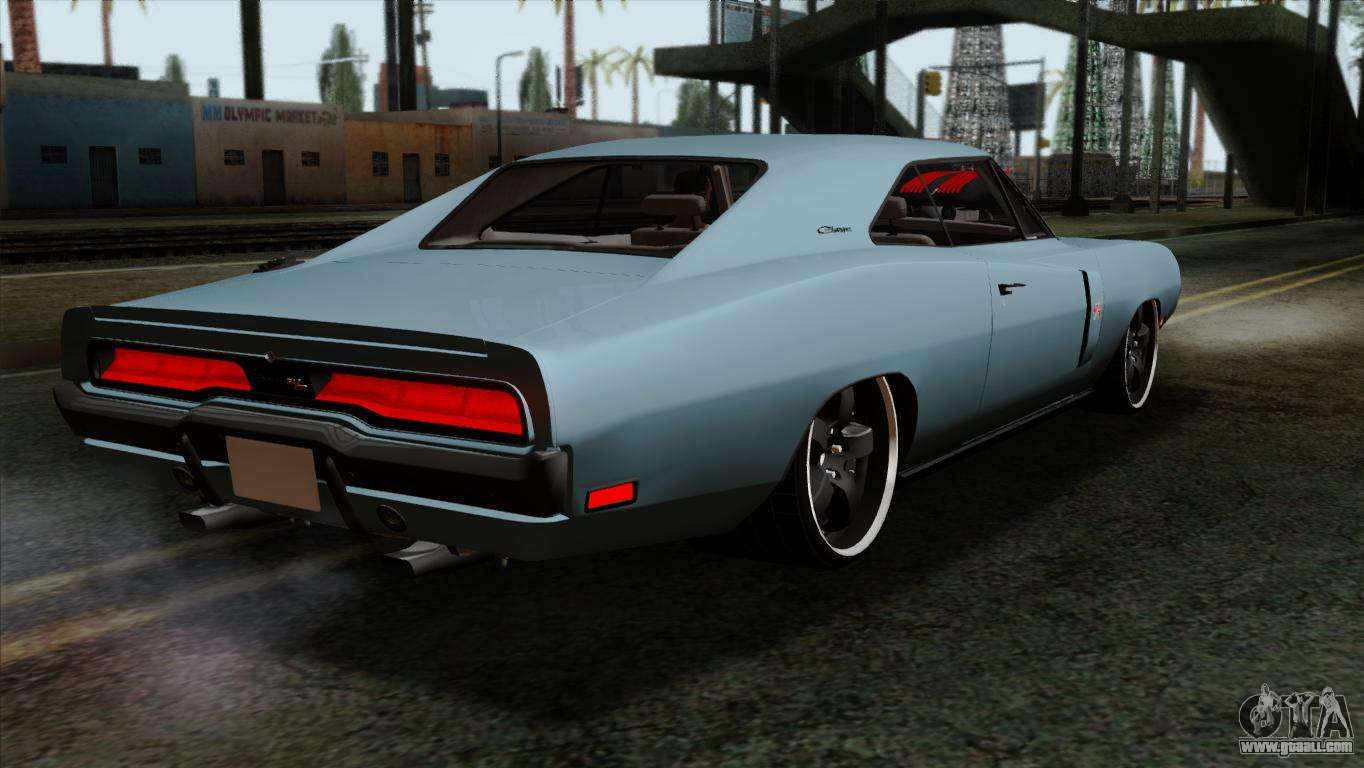 dodge charger rt 1970 for gta san andreas. Black Bedroom Furniture Sets. Home Design Ideas