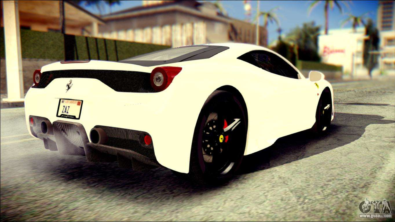 ferrari 458 speciale 2015 stripe for gta san andreas