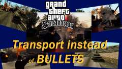 Transport V2 instead of bullets