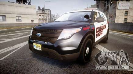 Ford Explorer 2011 Elizabeth Police [ELS] for GTA 4