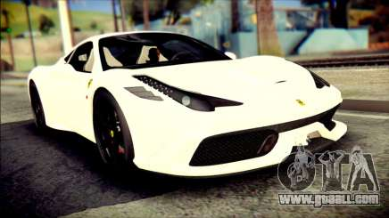 Ferrari 458 Speciale 2015 for GTA San Andreas