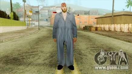 Bearded mechanic for GTA San Andreas
