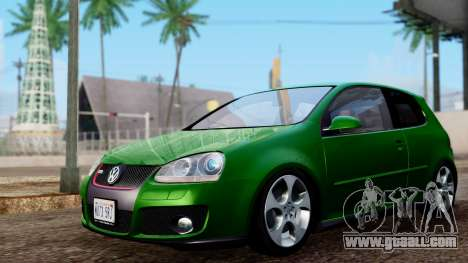Volkswagen Golf Mk5 GTi Tunable PJ for GTA San Andreas back left view