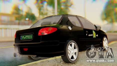 Peugeot 206 Coupe Police for GTA San Andreas left view
