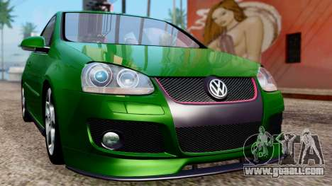 Volkswagen Golf Mk5 GTi Tunable PJ for GTA San Andreas inner view