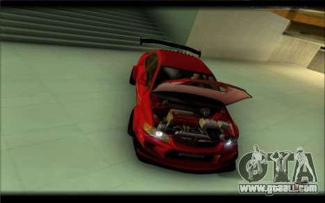 Mitsubishi Lancer Evolution IX Street Edition for GTA San Andreas back left view