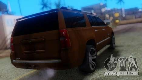 Chevrolet Suburban 2015 for GTA San Andreas left view